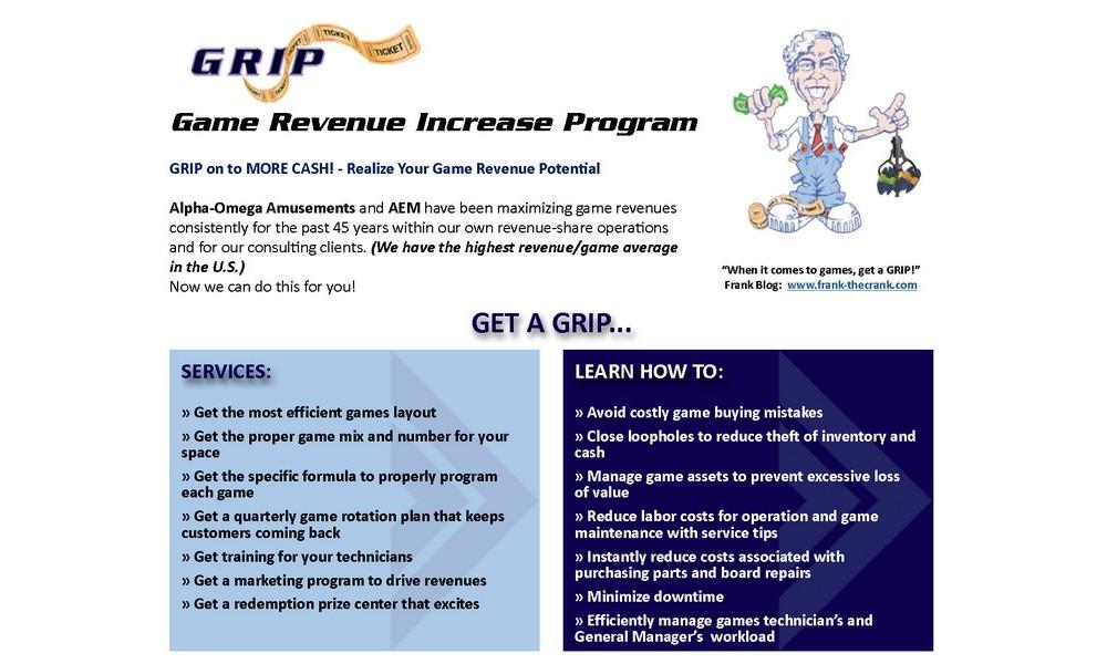 GRIP – Game Revenue Increase Program